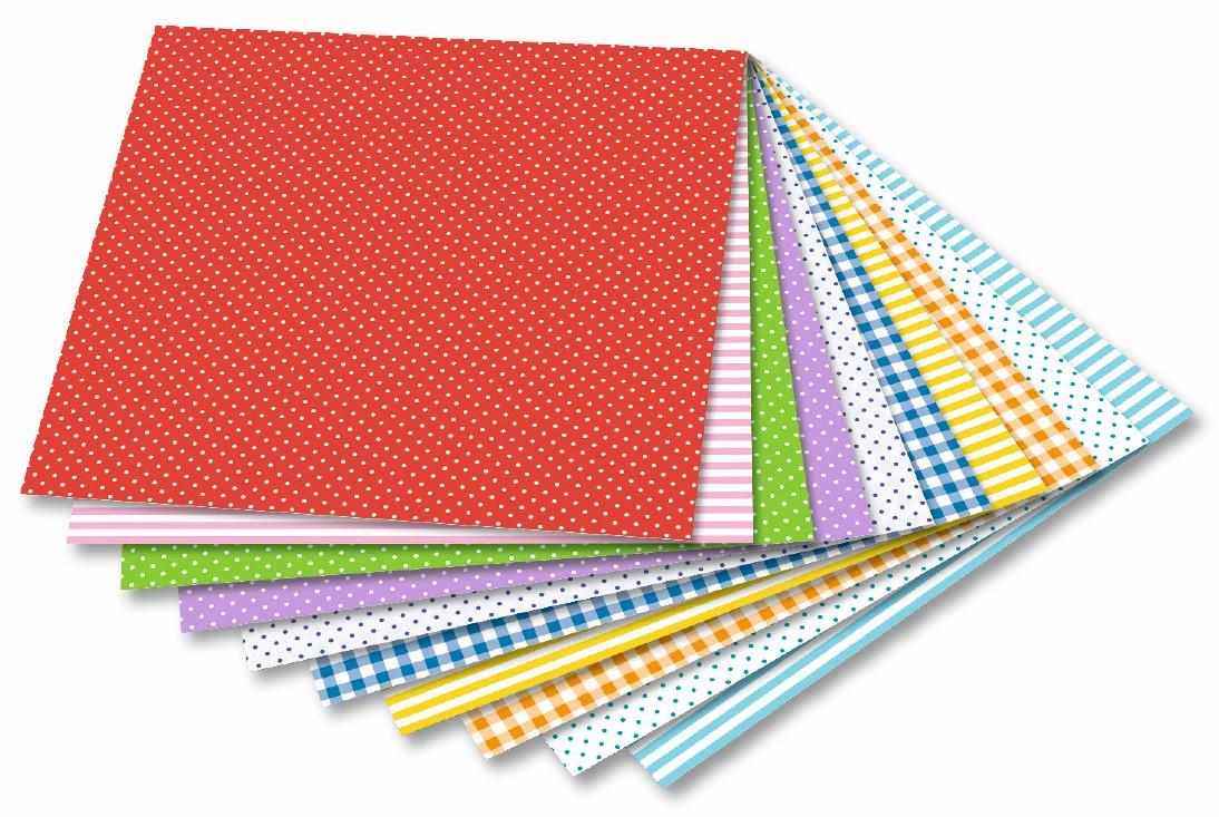 Origami papír Basics Intensiv 80 g/m2 - 10 x 10 cm, 50 archů