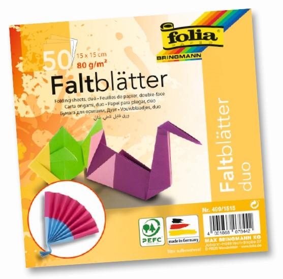 Origami papír DUO 80 g/m2 - 15 x 15 cm, 50 archů