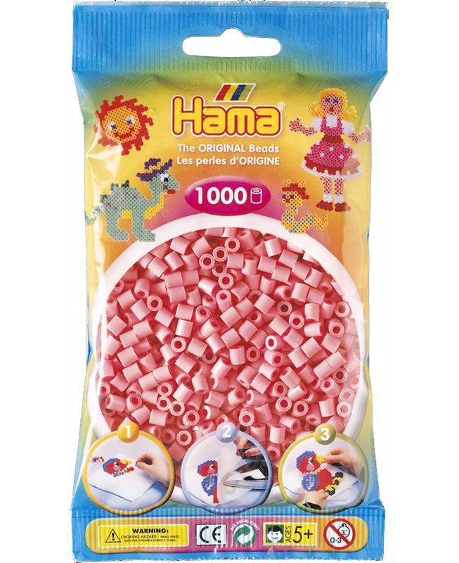 HAMA MIDI zažehlovací korálky růžové - 1000 ks