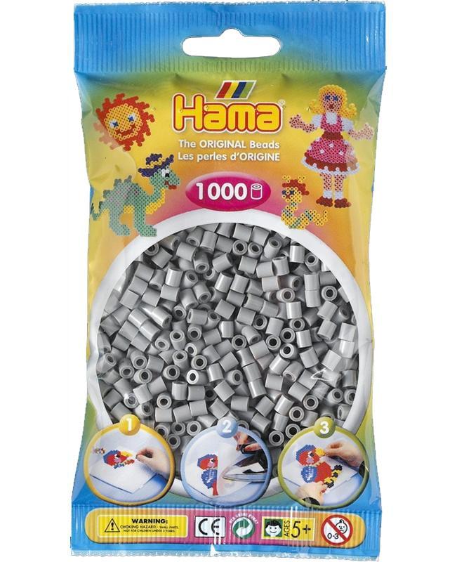 HAMA MIDI zažehlovací korálky šedé - 1000 ks