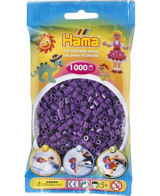HAMA MIDI zažehlovací korálky fialové - 1000 ks