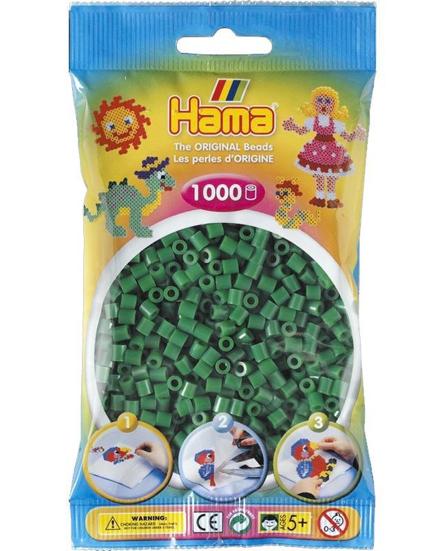 HAMA MIDI zažehlovací korálky zelené - 1000 ks