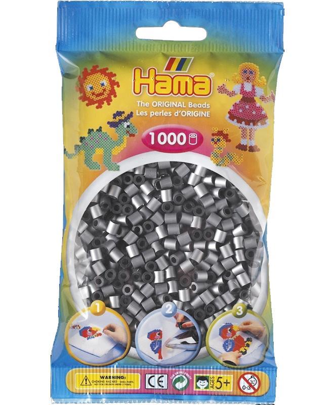 HAMA MIDI zažehlovací korálky stříbrné - 1000 ks