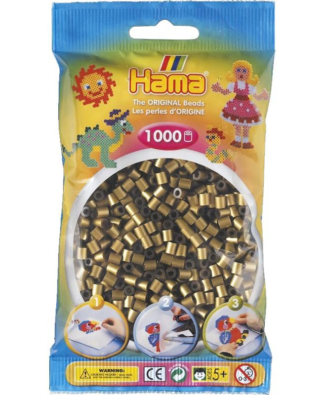 HAMA MIDI zažehlovací korálky bronzové - 1000 ks