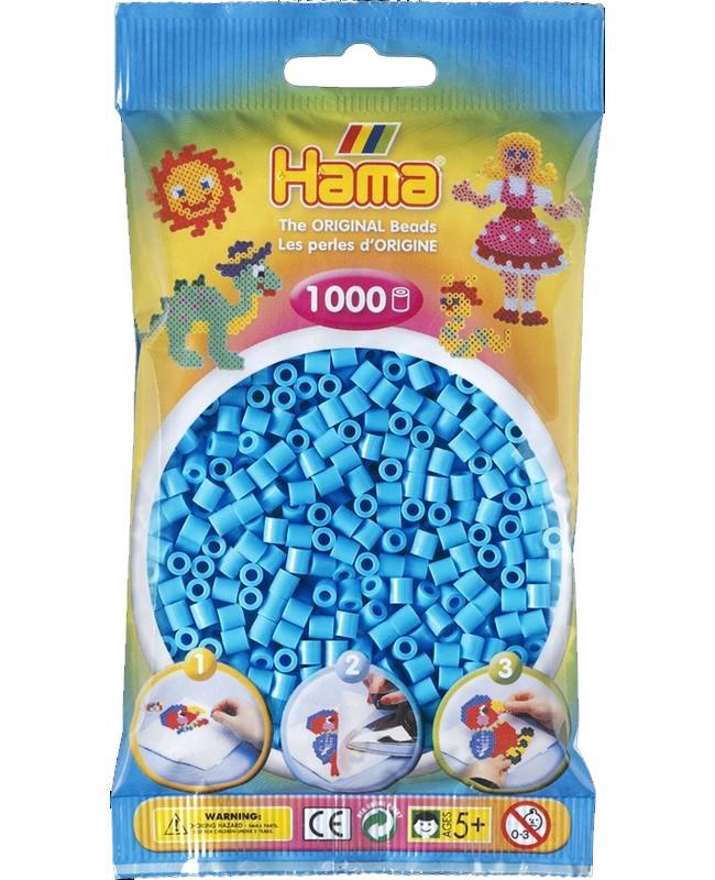 HAMA MIDI zažehlovací korálky pastelově modré - 1000 ks