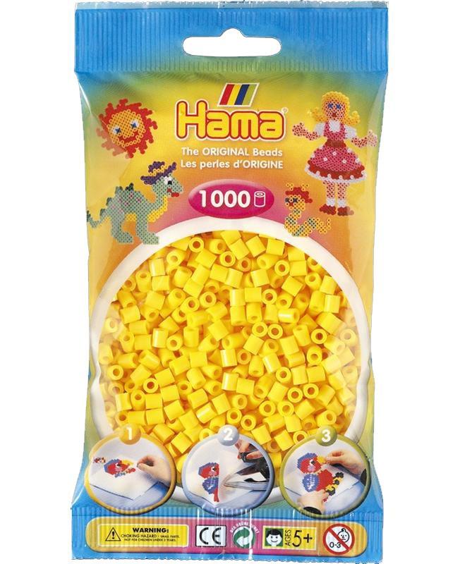 HAMA MIDI zažehlovací korálky žluté - 1000 ks