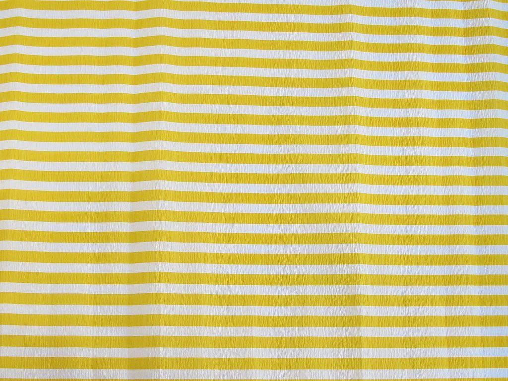 Krepový papír pruhovaný - 9755/68 - bílo-žlutý
