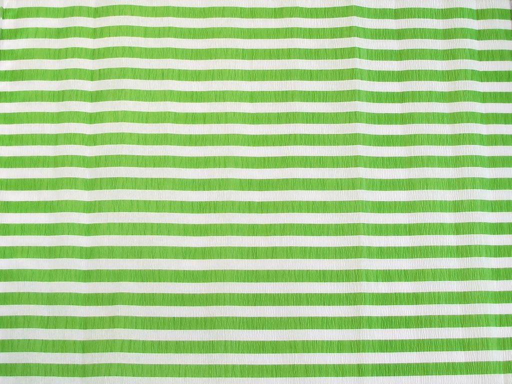 Krepový papír pruhovaný - 9755/69 - bílo-zelený