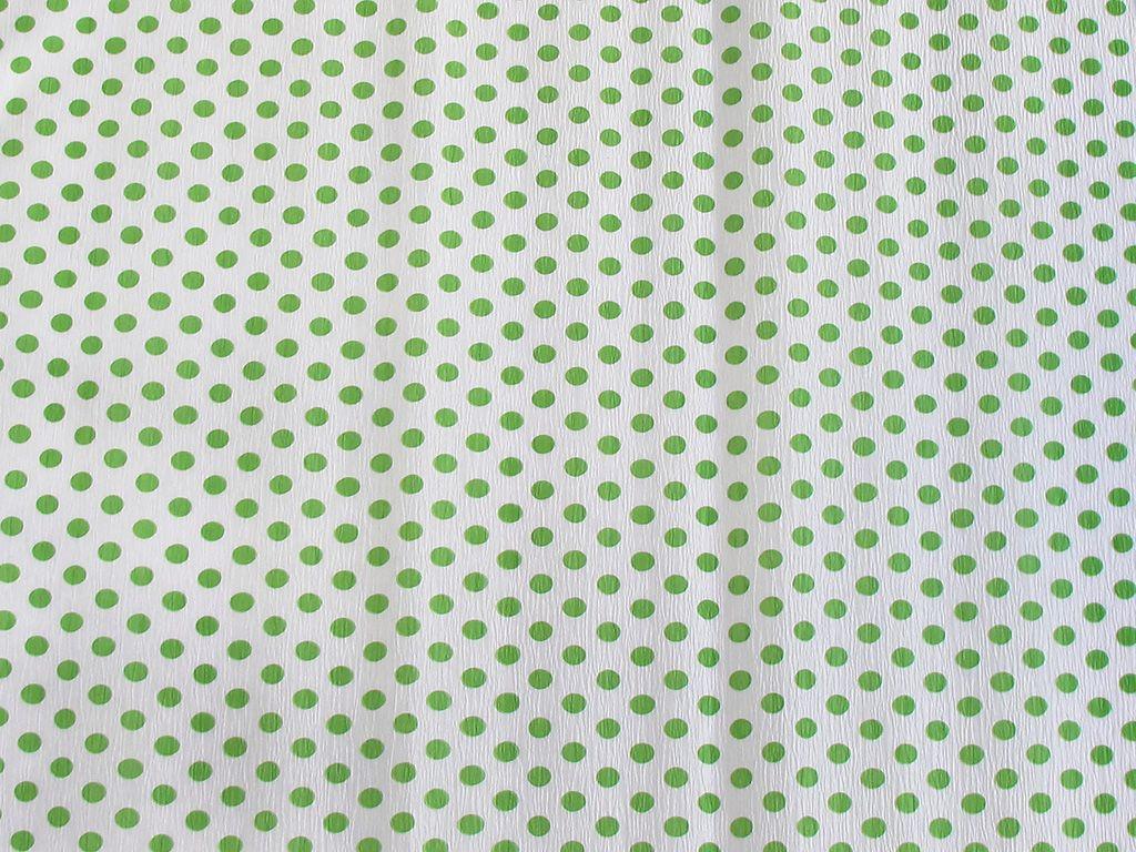 Koh-i-noor Krepový papír puntíkatý - 9755/57 - bílo-zelený