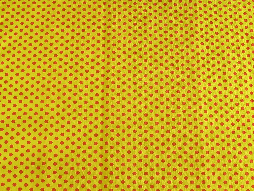 Krepový papír puntíkatý - 9755/59 - žluto-červený