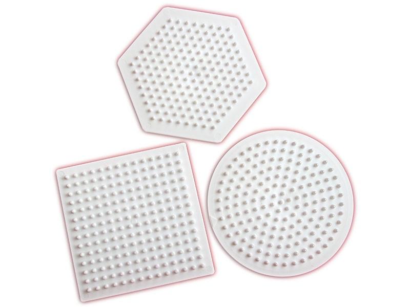 Podložky HAMA pro zažehlovací korálky MIDI - kolečko, čtverec, šestiúhelník