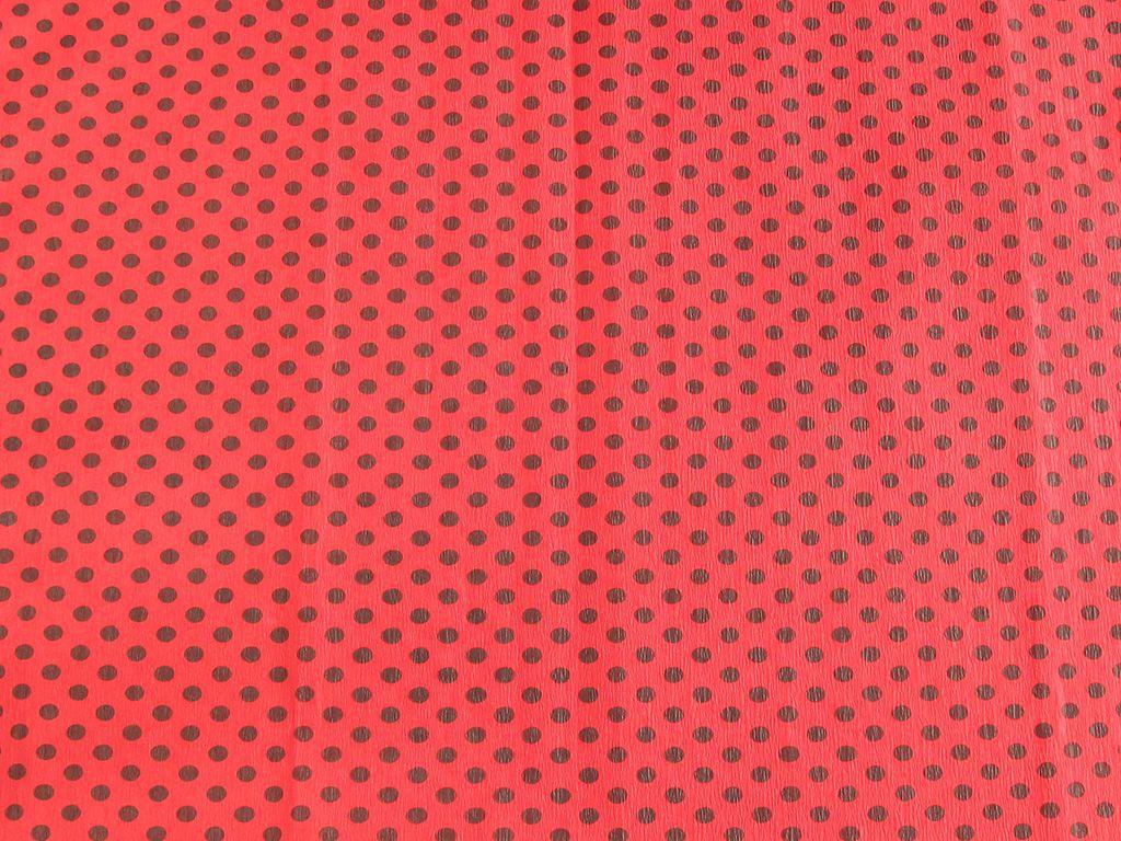 Koh-i-noor Krepový papír puntíkatý - 9755/51 - červeno-černý