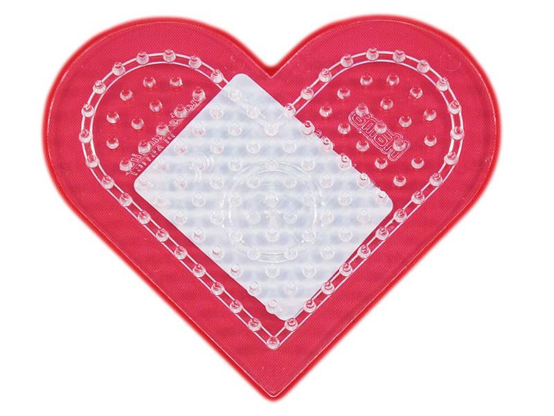 Podložka HAMA pro zažehlovací korálky MIDI - malé srdce