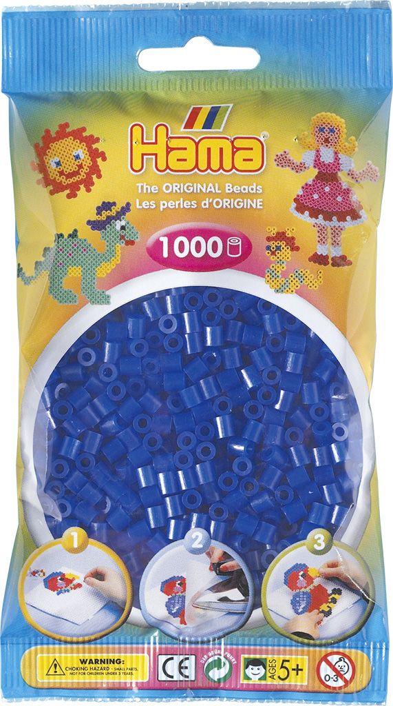 HAMA MIDI zažehlovací korálky neonové modré - 1000 ks