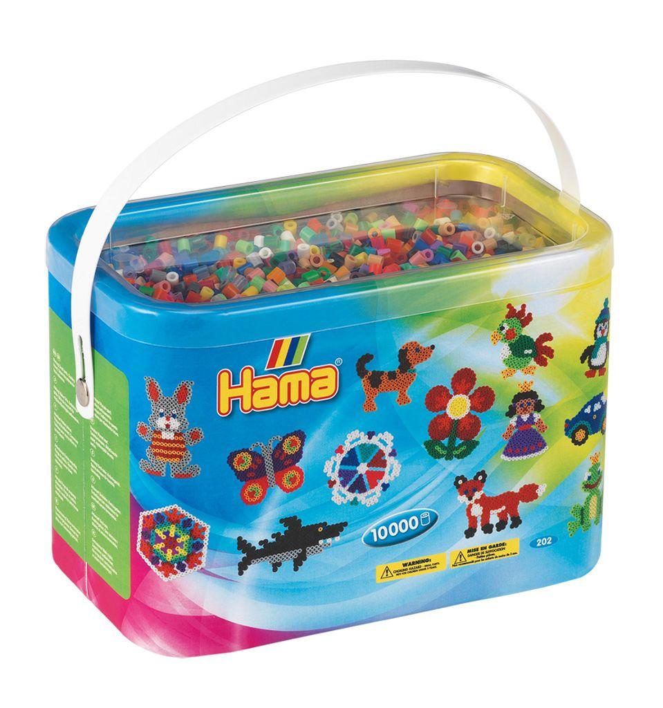 HAMA MIDI zažehlovací korálky velký mix barev - BOX 10 000 ks