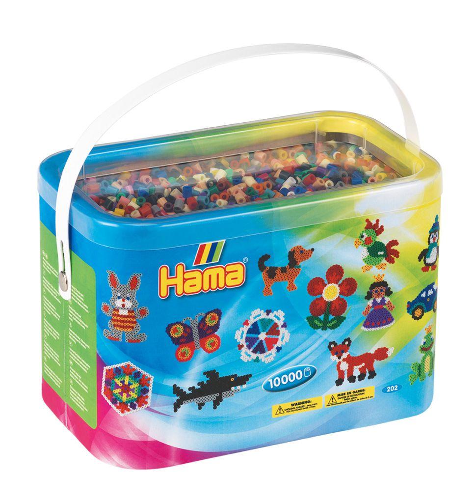 HAMA MIDI zažehlovací korálky mix barev - BOX 10 000 ks