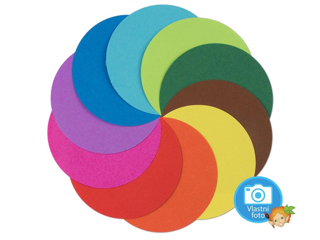 Origami papír 70 g/m2 - kulatý Ø 10cm, 500 archů v 10-ti barvách