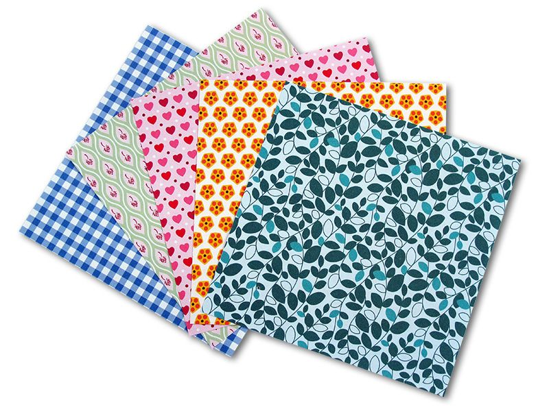 Folia - Max Bringmann Origami papír Sladký 80 g/m2 - 20 x 20cm, 50 archů
