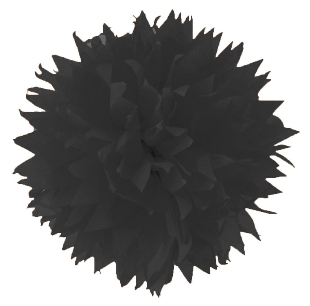 Hedvábný papír 20 g/m2, 50 x 70 cm, 26 listů - ČERNÝ