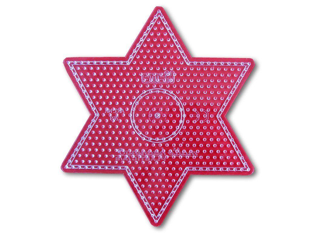 Podložka HAMA pro zažehlovací korálky MIDI - velká hvězda