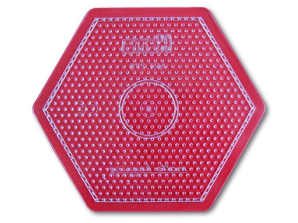 Podložka HAMA pro zažehlovací korálky MIDI - velký šestiúhelník