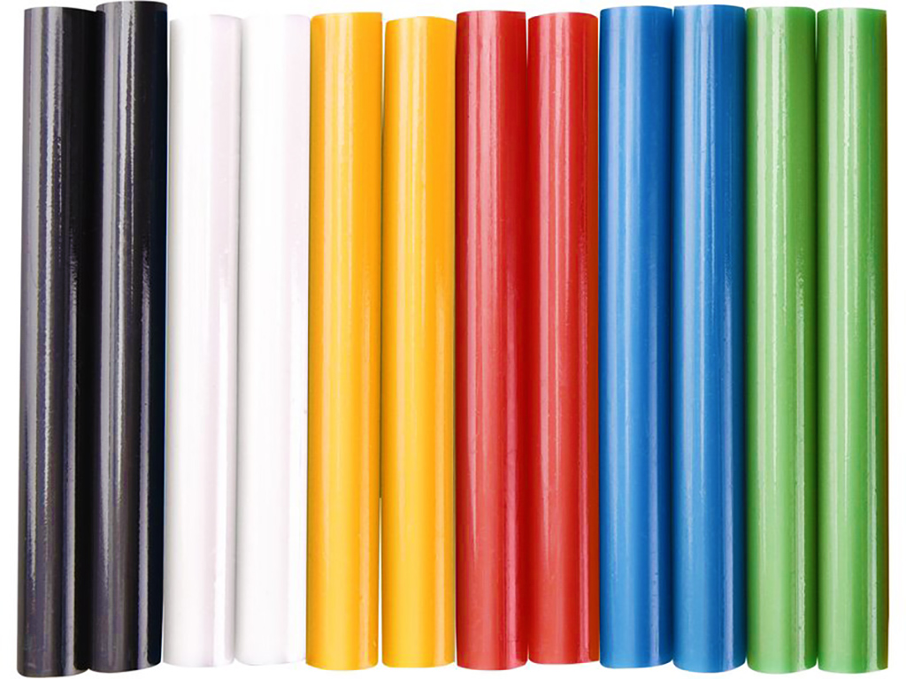 EXTOL Tavné lepící tyčinky barevné, rozměr 11 x 100 mm, 12 kusů, Ø 11 mm