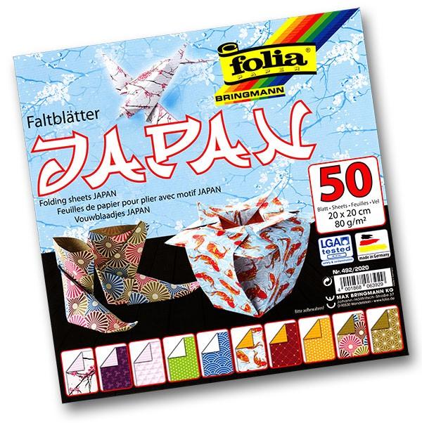 Folia - Max Bringmann Origami papír Japan 80 g/m2 - 20 x 20 cm, 50 archů