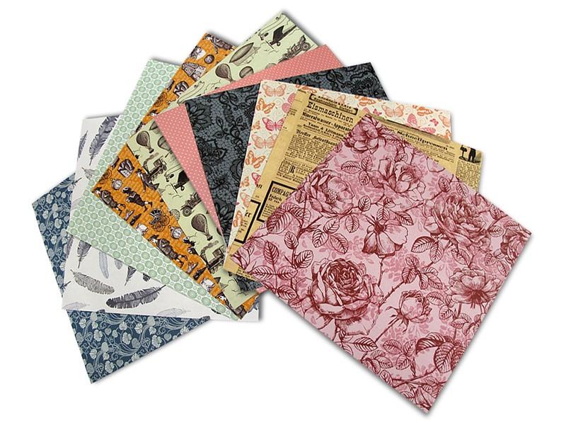 Origami papír Nostalgie 80 g/m2 - 15 x 15 cm, 50 archů