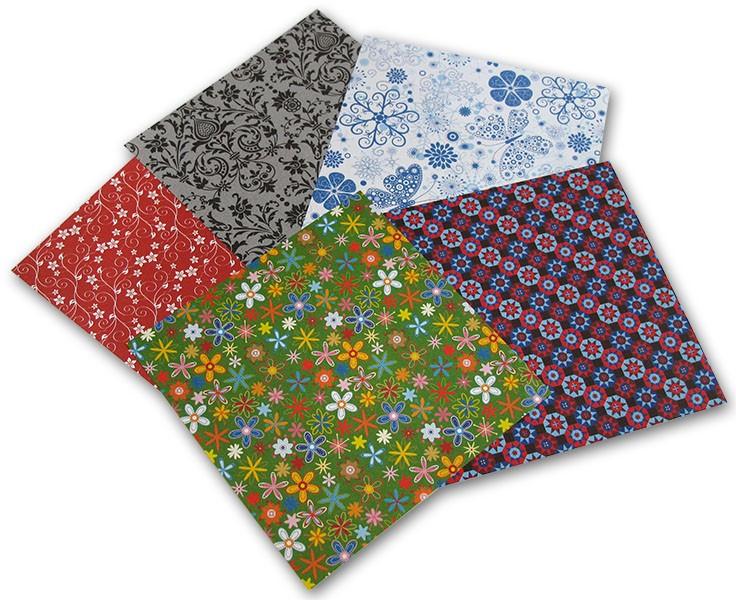 Origami papír Ornamental 80 g/m2 - 10 x 10cm, 50 archů