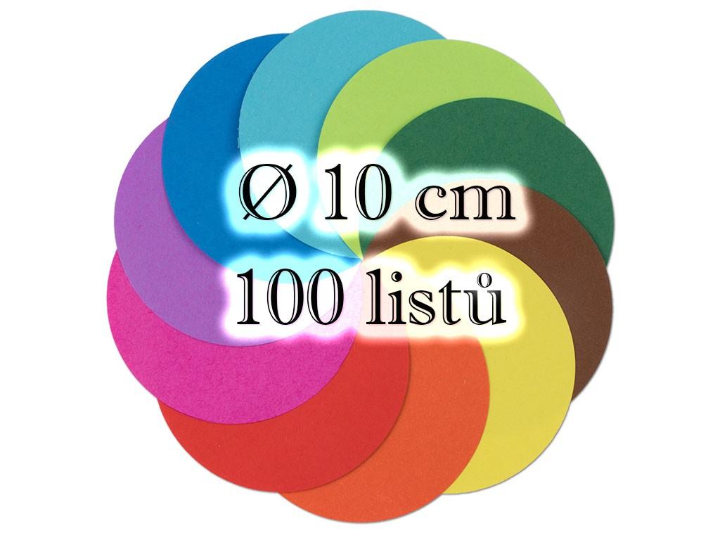 Folia - Max Bringmann Origami papír 70 g/m2 - kulatý Ø 10cm, 100 archů v 10-ti barvách