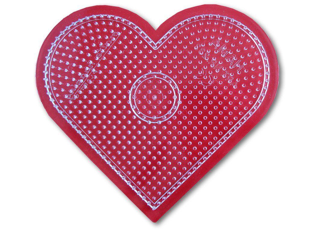 Podložka HAMA pro zažehlovací korálky MIDI - velké srdce