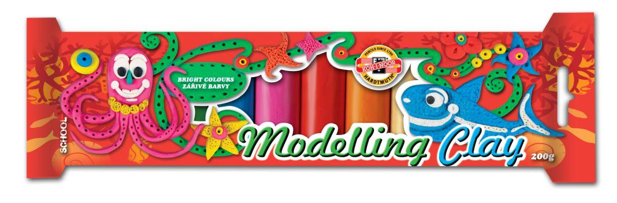 Koh-i-noor modelína 10 barev - 200g