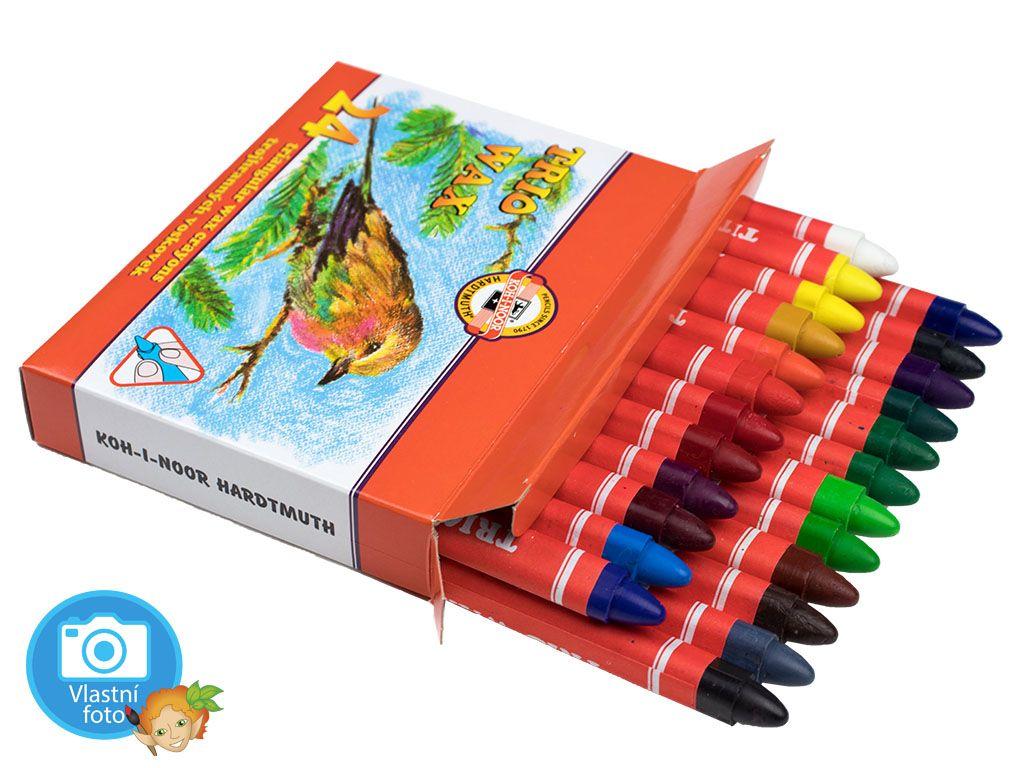 Voskovky Koh-i-noor TRIO WAX - 8274 - 24 barev