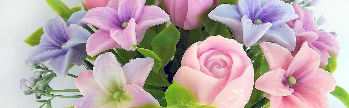 Jarní mýdlova kytice