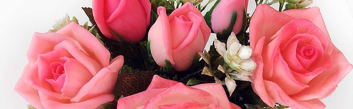 Mýdlová kytice růže