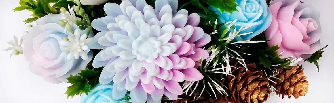 Zimní růže mýdlová kytice