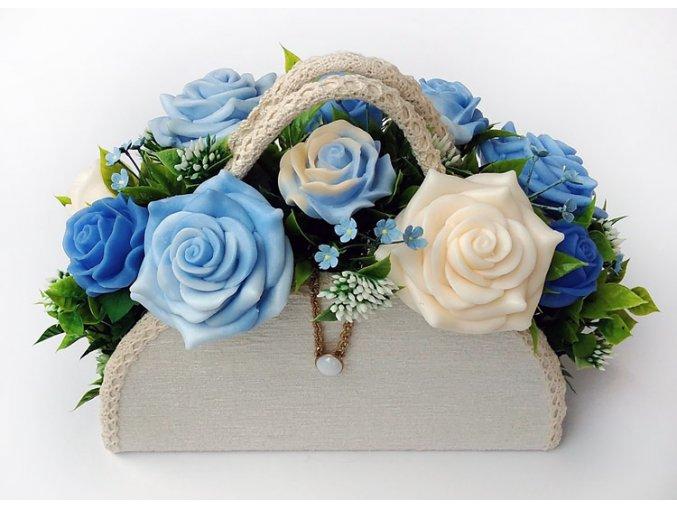 kabelka modre ruze