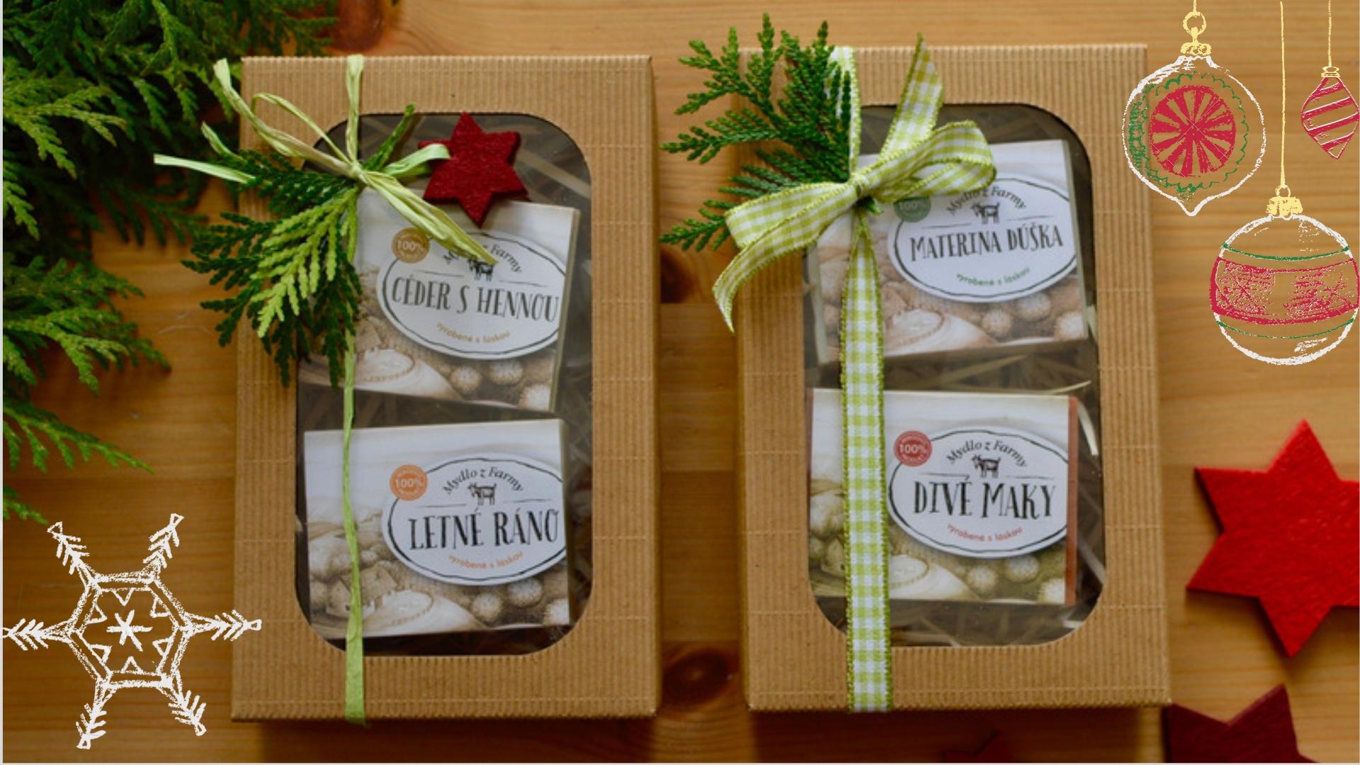 Darčekové balenie mydiel -Veselé Vianoce