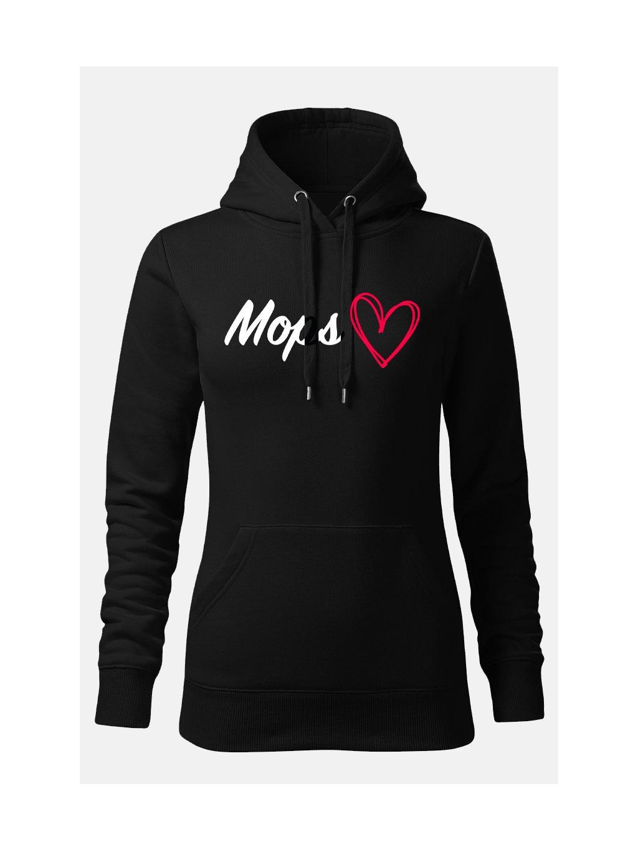 nápis srdce mops 1