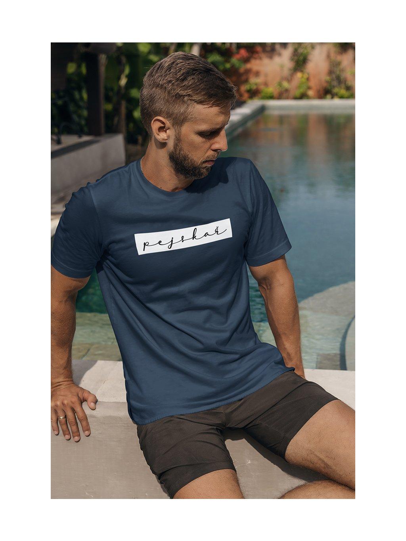 pejskař obdélník námořní modrá tričko
