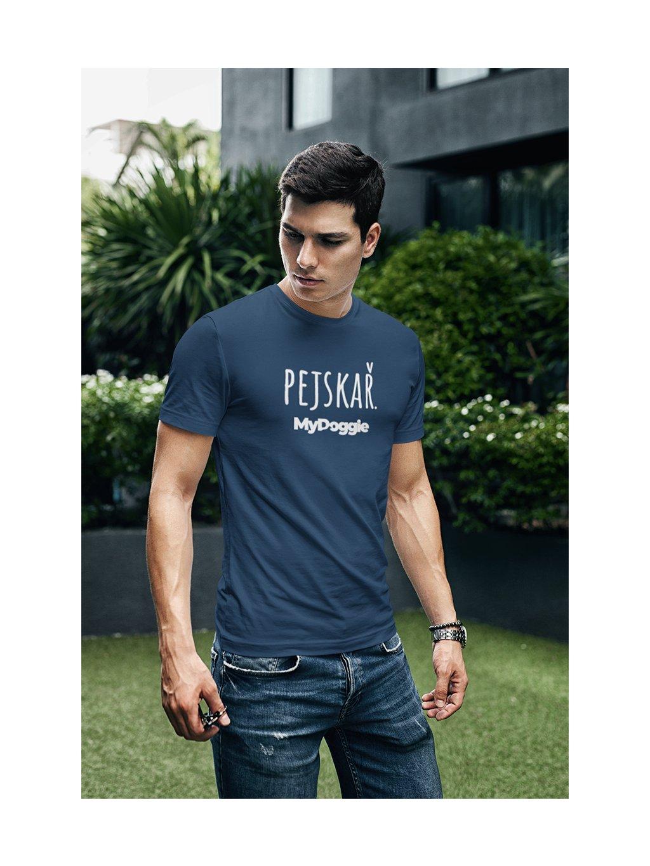 pejskař velký text námořní modrá tričko