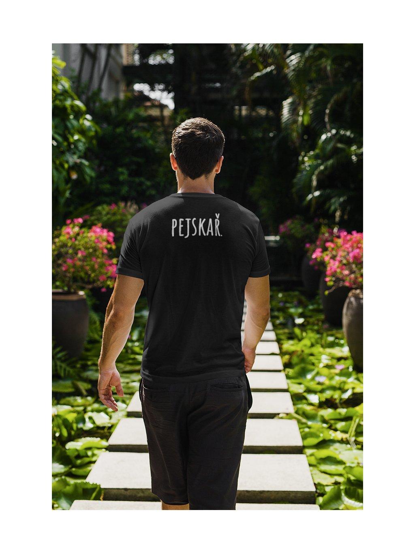 pejskař záda černá tričko