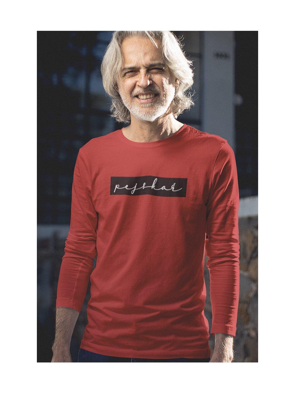 pejskař obdélník červená tričko dlouhý rukáv