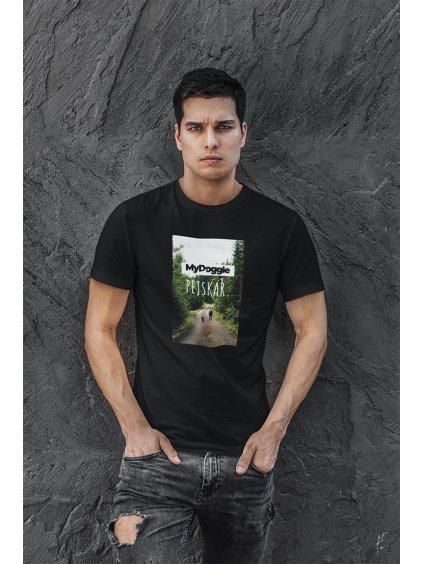 foto obdélník černá tričko