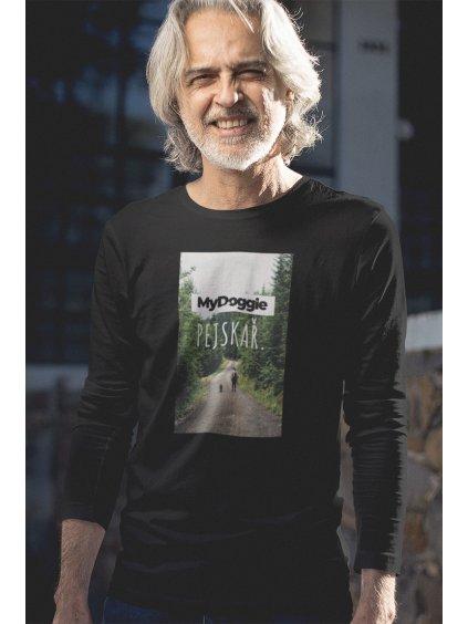 foto obdélník černá tričko dlouhý rukáv