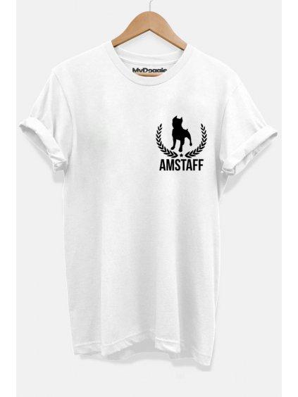 Amstaff listy bílá P