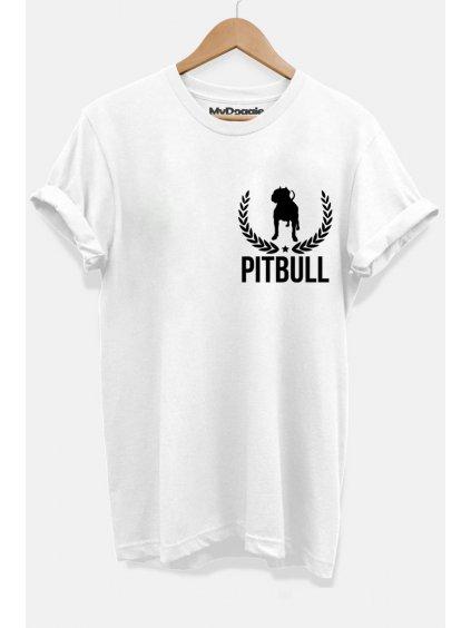 Pitbull lístečky bílá P