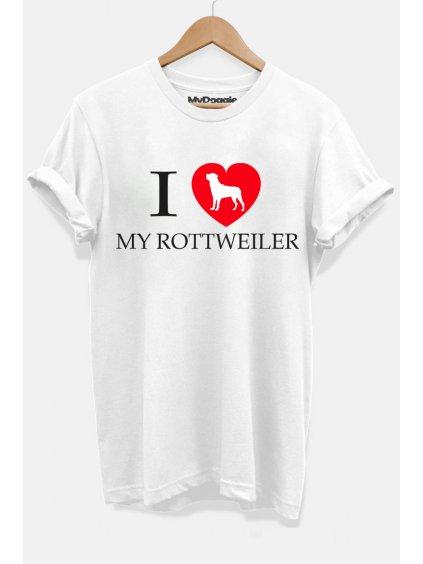 Rotvajler I love bílá DP