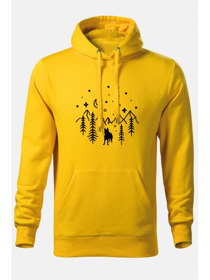 Mikiny Hory on žlutá