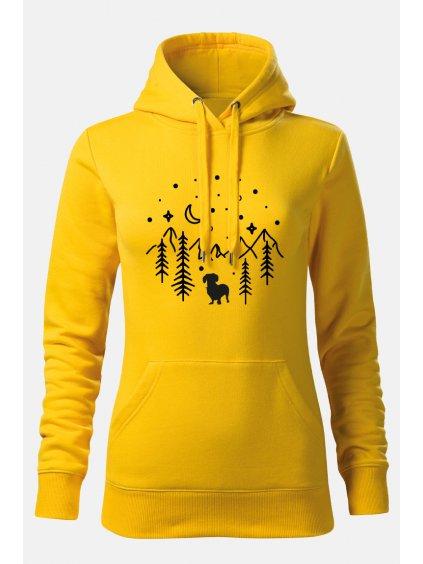 Mikiny hory ona žlutá
